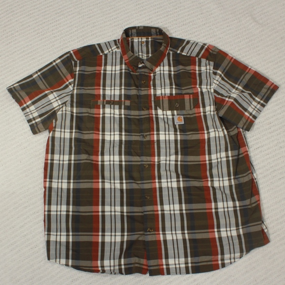 Carhartt Other - Carhartt Force Ridgefield Men's 3XL Reg. Plaid Sho